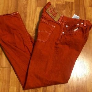 Mens Levi button fly 501 jeans